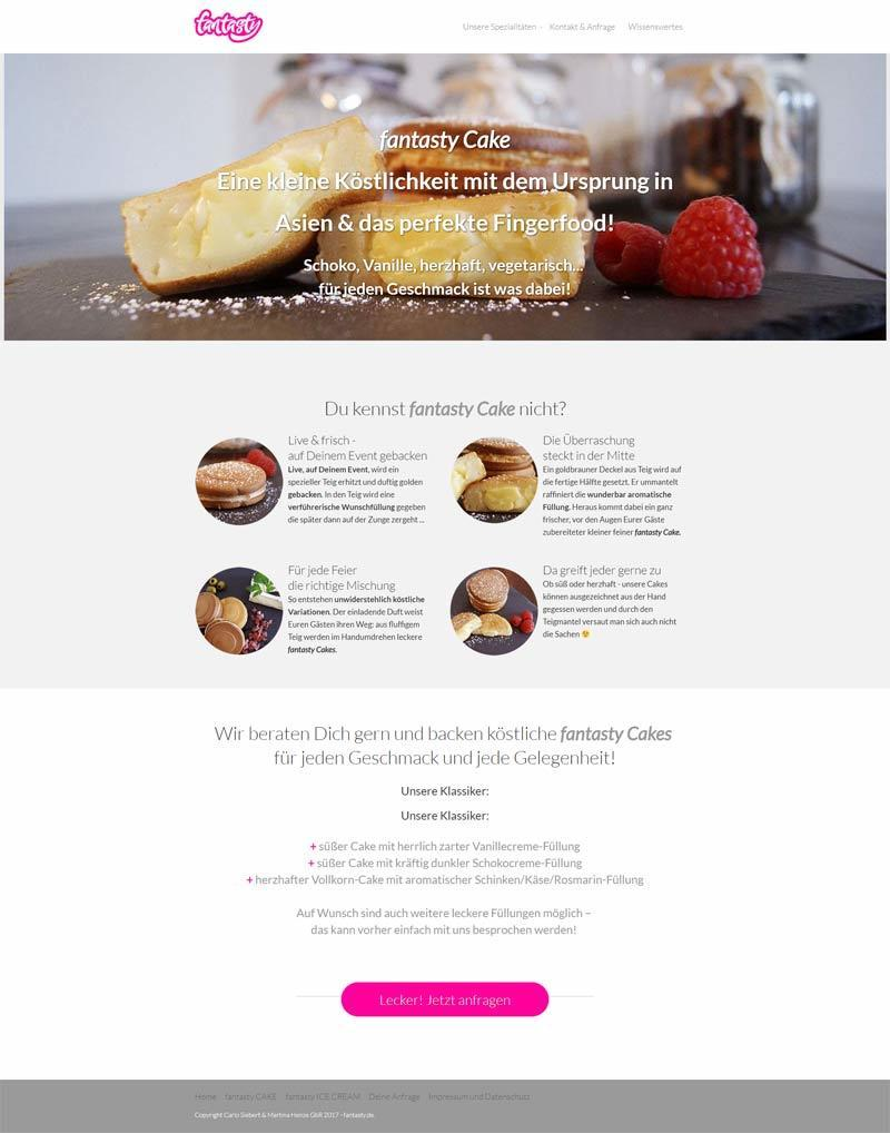 Layout Webdesign fantasty.de