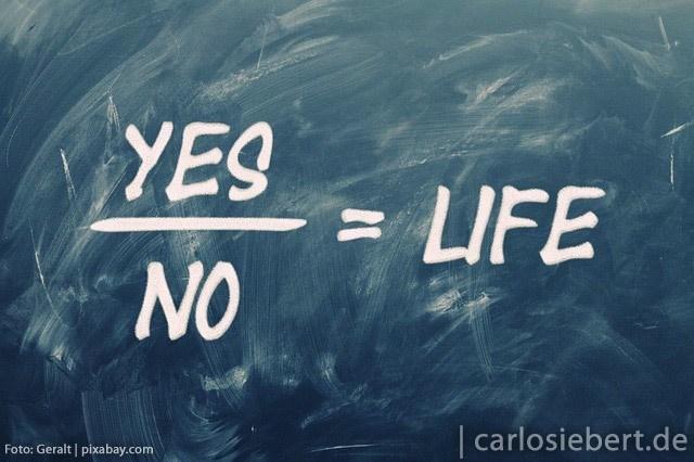 Als Unternehmer gekonnt ja uns nein sagen können