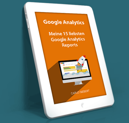 Tablet mit Analytics-E-Book