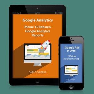 Tablet und Handy mit E-Book Cover