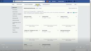 Eine Übersicht über die Statistiken, die Dir Facebook anzeigt, um Deine Seite auszuwerten.