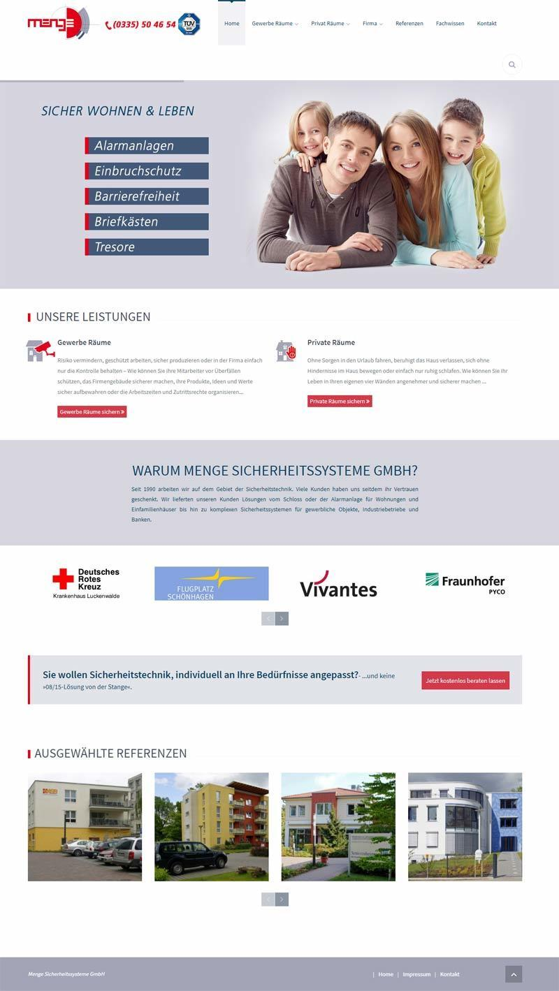 Layout Webdesign Menge GmbH