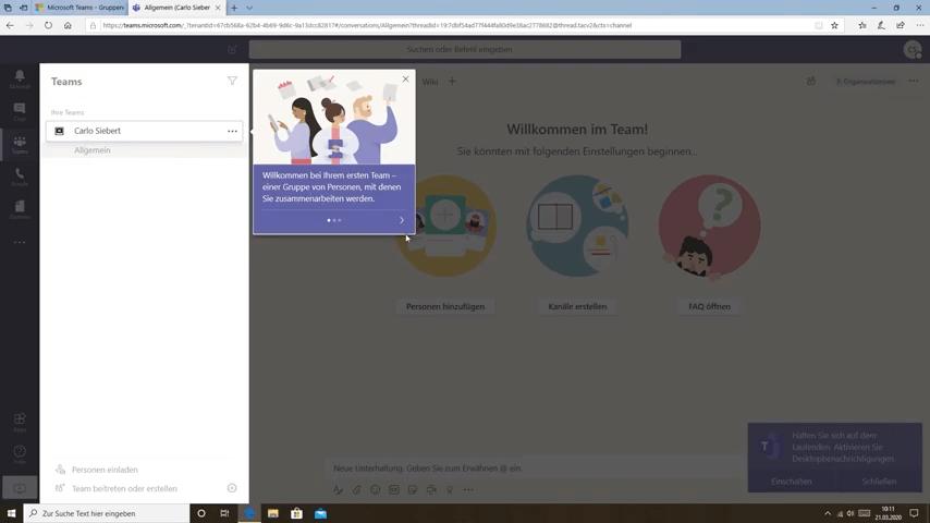 Dashboard Microsoft Teams