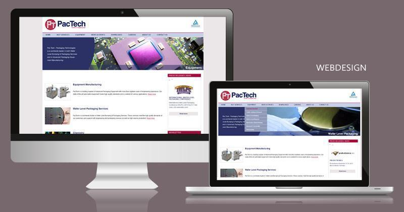 Layout Webdesign PacTech GmbH