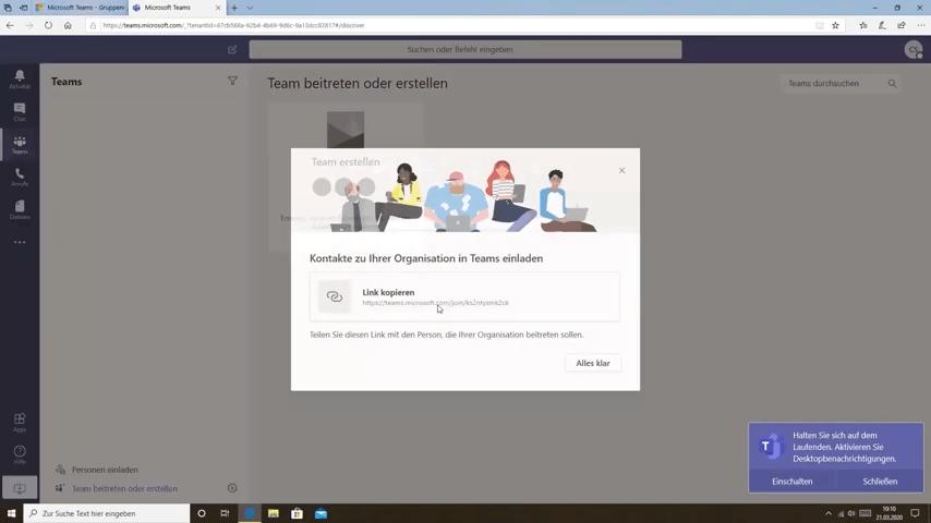 Link für Microsoft Teams